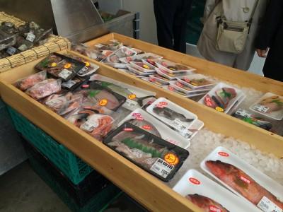 大阪中之島漁港 中之島みなと食堂 値段 活魚 加工品 切り身