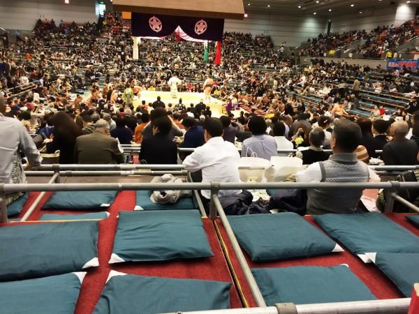 大相撲 春場所 三月場所 大阪場所 大阪府立体育館 チケット 座席表 ます席