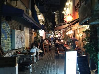 お初天神表参道 大阪 東梅田 道呑み 名店  魔法のレストラン 場所 裏通り 行き方