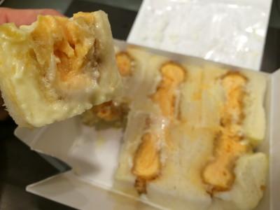 ごぶごぶ 北新地 おねえオススメ サンドイッチ タマゴカツサンド 塩ラーメン ミックス焼きそば