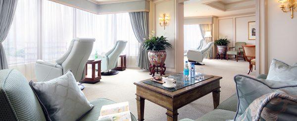 ホテル椿山荘東京スイートルームゲストラウンジ「パゴダラウンジ」