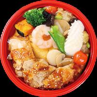 大丸梅田店 どんぶりグランプリ ちちんぷいぷいで紹介 メニュー 1位 スタンプラリー 上海デリ 天津中華丼 油淋鶏