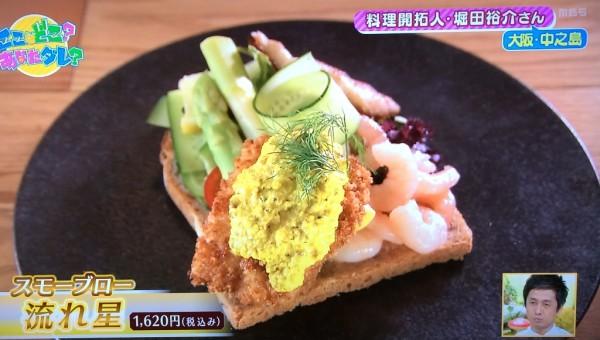 ちちんぷいぷい 中之島図書館 サンドイッチ 北欧 重要文化財 Smorrebrod Kitchen Nakanoshima スモーブローキッチン 流れ星 サメ