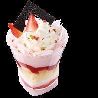 大丸梅田店 スイーツカップグランプリ ちちんぷいぷいで紹介 メニュー 1位 いちごのバウムパフェ ユーハイム