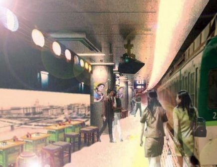 京阪電車 中之島駅 構内 ホーム 車輛が酒場 メニュー 期間 料金 行列 待ち時間 混雑 おでんde電車