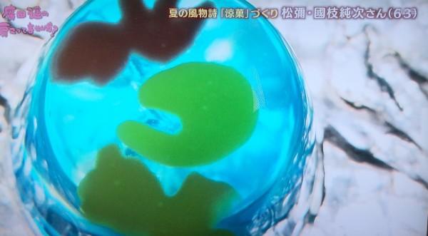 ちちんぷいぷい 京都 松彌 まつや 金魚すくい 和菓子 涼菓子