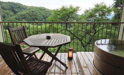 柿本家・露天風呂付客室からの眺め