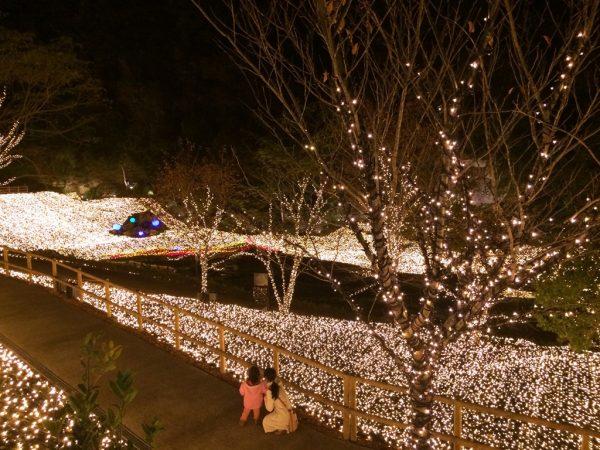 ネスタリゾート神戸 NESTA RESORT KOBE 兵庫 三木 イルミネーション ネスタイルミナ 光の散歩道 入場料 行ってきました ブログ プロジェクションマッピング ファンタジーラグーン ポセイドン 女神の舞い ショースケジュール 時間