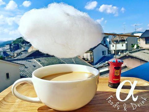 Alpha foods&drink アルファ フードアンドドリンク 京都 植木鉢スイーツ 雲下コーヒー 日本初