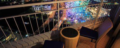 横浜ベイホテル東急/バルコニーからの夜警