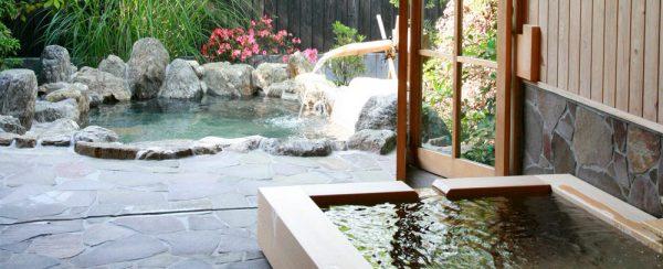 天然田園温泉 ふかほり邸・客室露天&内湯温泉