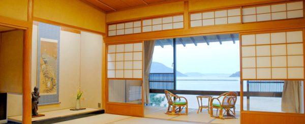 水野旅館・数寄屋造りの和室「西の間」