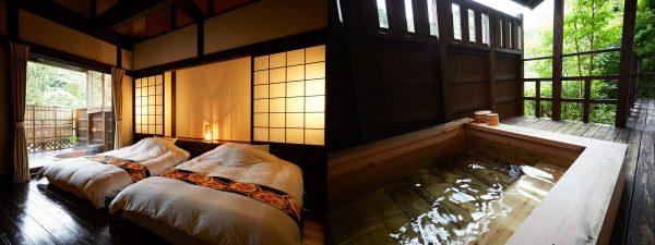 全室露天風呂付き離れ和モダンの宿「山あかり」客室