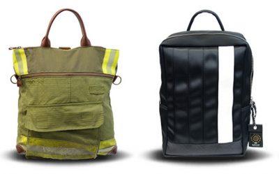 ほんわかテレビ 捨てるモノから生まれた フローリング床材 バッグ MODECO モデコ 消防服 シートベルト アップサイクル