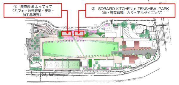 天王寺公園 てんしば オープン 産直市場よってって レストラン ビアガーデン ソライロキッチン バーベキュー 芝生広場 あべのハルカス