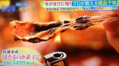 白熱ライブ ビビット カトシゲのお取り寄せハウス NEWS加藤シゲアキ 4月14日 干物 ほたるいか素干し 浜浦水産