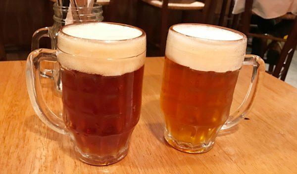 ブリューパブ テタールヴァレ 店内にビール工場 クラフトビール ビール醸造所 オリジナルビール 塊肉ロースト