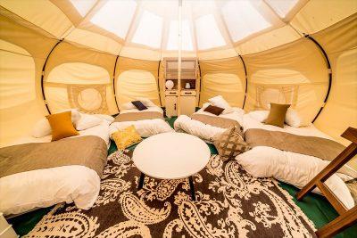 GLAMP ELEMENT グランエレメント グランピング施設 滋賀県米原市 オールインクルーシブ 全て込み 客室 テント ロータステント