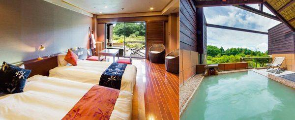 ホテルグリーンプラザ箱根「露天風呂付アジアンツインルーム」