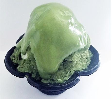 中崎町 かき氷 グリーンシェイブアイス 台湾式かき氷 エスプーマ 泡 フレーバーアイス メニュー 抹茶