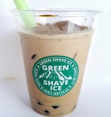 中崎町 かき氷 グリーンシェイブアイス 台湾式かき氷 エスプーマ 泡 フレーバーアイス メニュー タピオカドリンク