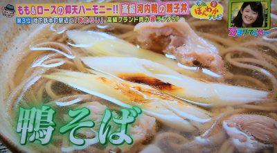 ほんわかテレビ グルメ 高級ブランド肉 あたらし 親子丼 鴨そば 河内鴨