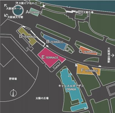 JO-TERRACE OSAKA ジョー・テラス・オオサカ 大阪城公園 店舗一覧 商業施設 フロアマップ 周辺 飲食店 レストラン