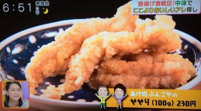 キャスト ここよりおいしいアレ アキナ 6月5日 大分 中津 唐揚げ