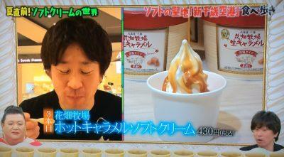 マツコの知らない世界 ソフトクリーム ご当地ソフトクリーム 新千歳空港 花畑牧場 ホットキャラメルソフトクリーム