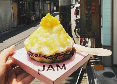 中崎町 かき氷 JAM 韓国ソルビン 中崎町アイス 進化形スイーツ 韓味一 テイクアウト 持ち帰り