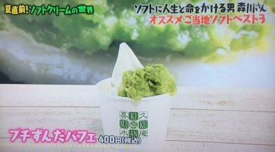 マツコの知らない世界 ソフトクリーム ご当地ソフトクリーム プチずんだパフェ 喜久水庵ずんだ茶屋