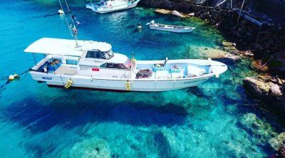 とくダネ 絶景 柏島 イタリア ランペドゥーザ島 船が浮いて見える