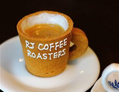 ほんわかテレビ エコプレッソ R・J CAFE アール・ジェイ カフェ エスプレッソ カップが食べられる