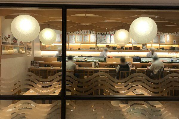 ルクア バルチカ さかなやのmaru寿司 店内