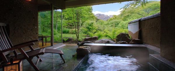 群馬 別邸仙寿庵 客室露天風呂 天然温泉 源泉かけ流し