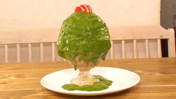 かき氷研究所 宇治抹茶キャラメル ストロベリーショコラ氷