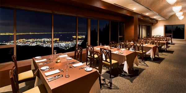 スカイレストラン レトワール 六甲山ホテル 神戸 夜景 1000万ドル