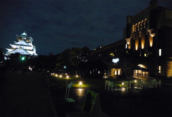 大阪城とミライザ