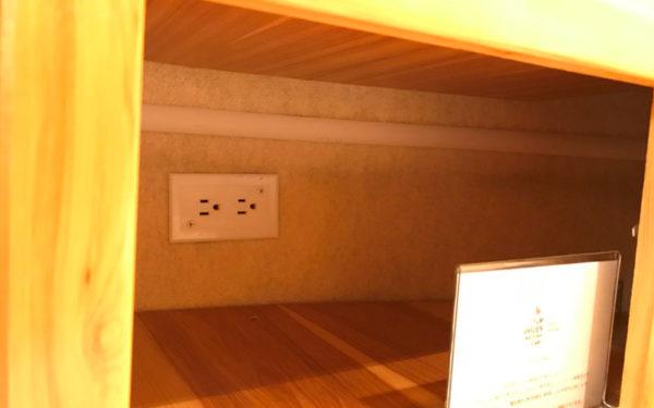 グランピング グランキャンピングパームガーデン舞洲 大阪市内初 エアストリーム キャンピングトレーラー 室内 コンセント