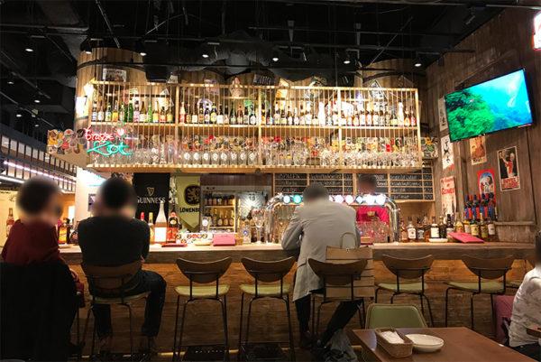 クラフトビールタップ ヨドバシ梅田店 店内の様子