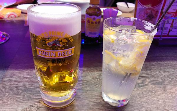ルクア大阪 バルチカ 幸福飯店 ハッピーハンテン ビール 塩レモンサワー