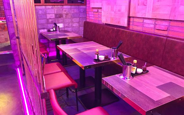 ルクア大阪 バルチカ 幸福飯店 ハッピーハンテン テーブル