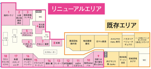 ルクア大阪 バルチカ リニューアル 店舗一覧 西日本初 大阪初出店