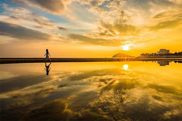 ちちんぷいぷい 絶景散歩 ウユニ塩湖 瀬戸内 香川 天空の鏡 父母ヶ浜