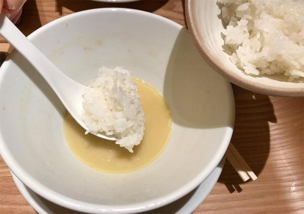 鶏白湯SOBA 白ご飯
