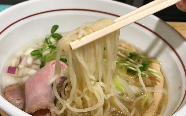 夢道場 塩ラーメン ストレート細麺