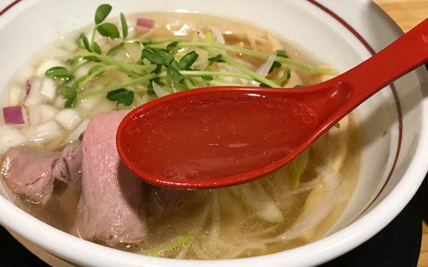 夢道場 塩ラーメン スープ
