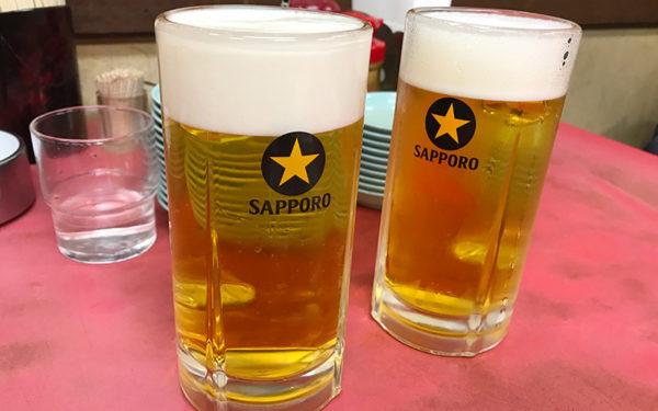 マルシン飯店 生ビール