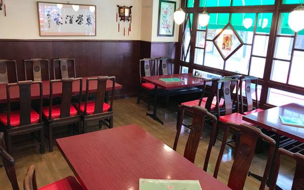 神戸 元町 南京町 東栄酒家 テーブル席