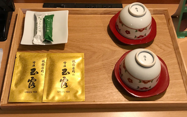 祇園辻利の宇治玉露 お茶菓子